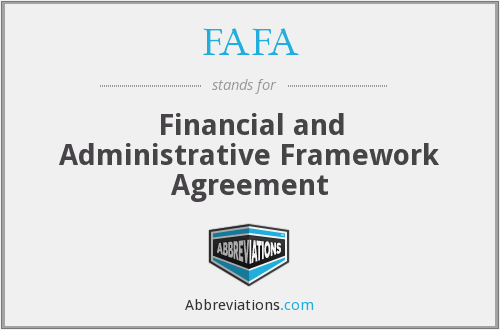 FAFA - Financial and Administrative Framework Agreement