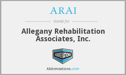 ARAI - Allegany Rehabilitation Associates, Inc.