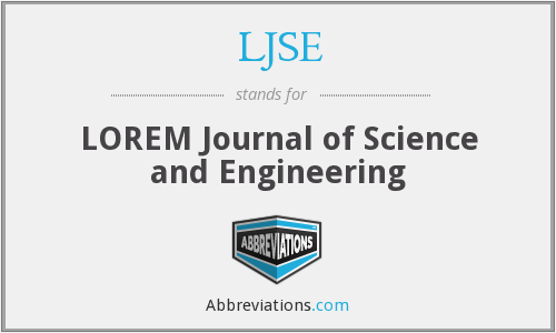 LJSE - LOREM Journal of Science and Engineering