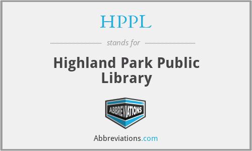 HPPL - Highland Park Public Library