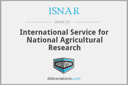 What does ISNAR stand for?