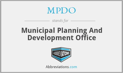 MPDO - Municipal Planning And Development Office