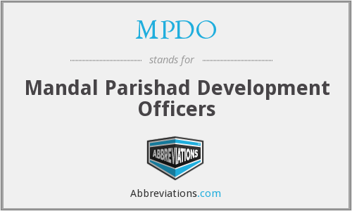 MPDO - Mandal Parishad Development Officers