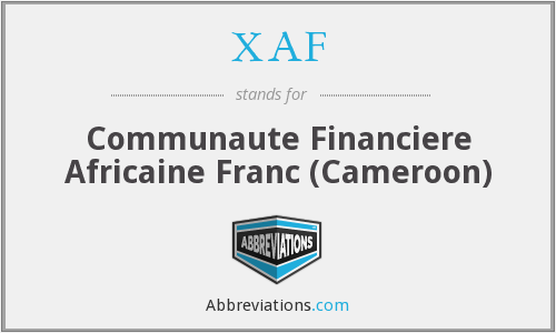 XAF - Communaute Financiere Africaine Franc (Cameroon)