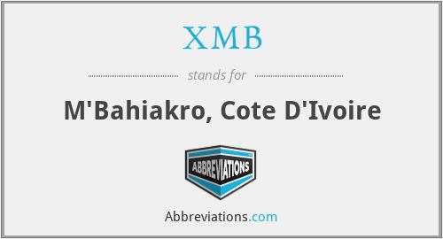 XMB - M'Bahiakro, Cote D'Ivoire