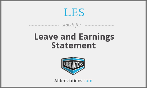 LES - Leave and Earnings Statement