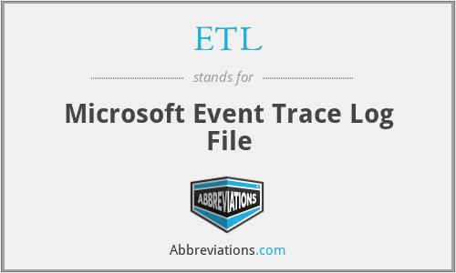 ETL - Microsoft Event Trace Log File