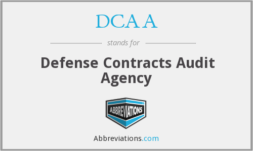 DCAA - Defense Contracts Audit Agency