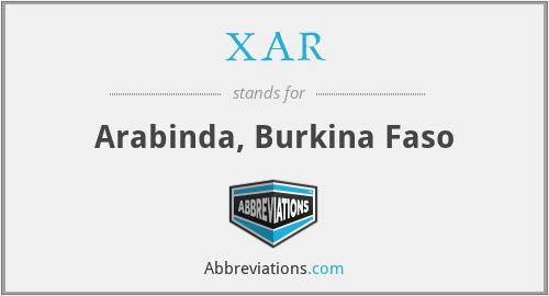 XAR - Arabinda, Burkina Faso