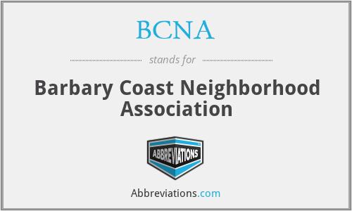 BCNA - Barbary Coast Neighborhood Association