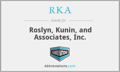 What does RKA stand for?