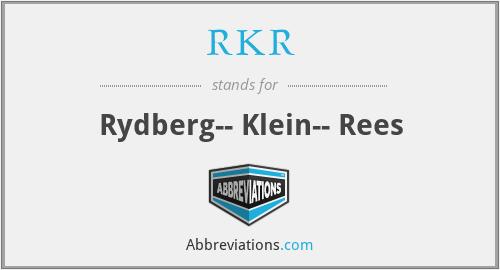 RKR - Rydberg-- Klein-- Rees