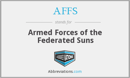 AFFS - Armed Forces of the Federated Suns