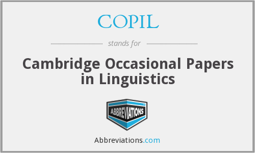 What does COPIL stand for?