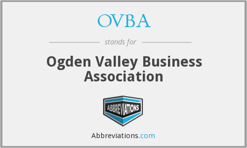 What does OVBA stand for?