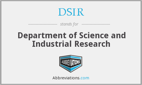 DSIR - Department of Science and Industrial Research