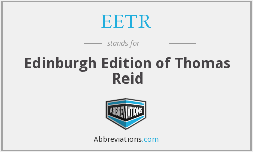 EETR - Edinburgh Edition of Thomas Reid