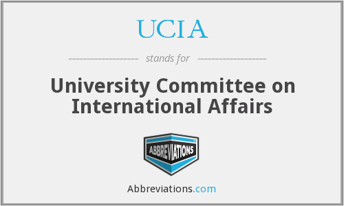 UCIA - University Committee on International Affairs