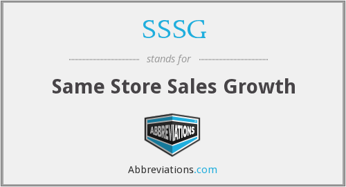 What does SSSG stand for?