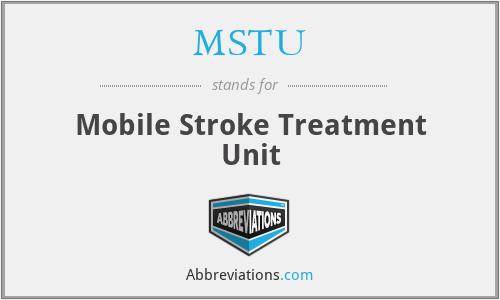 MSTU - Mobile Stroke Treatment Unit