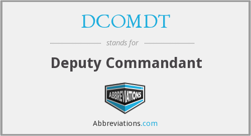 What does DCOMDT stand for?