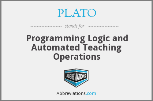 PLATO - Programming Logic and Automated Teaching Operations