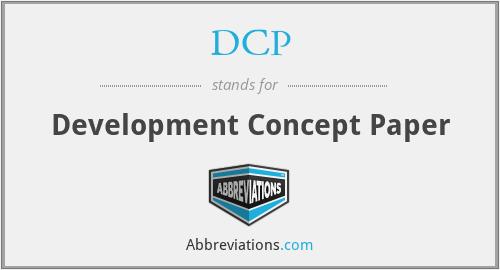 DCP - Development Concept Paper