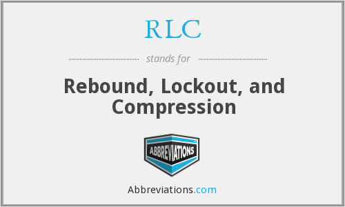 RLC - Rebound, Lockout, and Compression