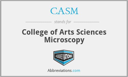 CASM - College of Arts Sciences Microscopy