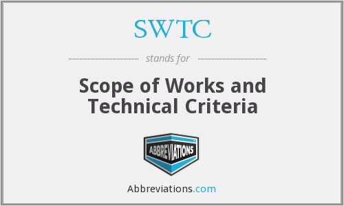 What does SWTC stand for?