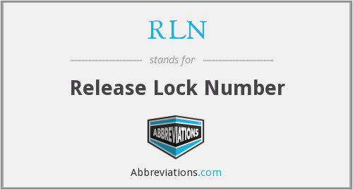 RLN - Release Lock Number