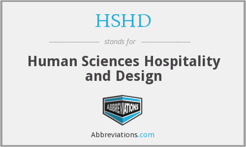 HSHD - Human Sciences Hospitality and Design