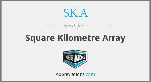 SKA - Square Kilometre Array