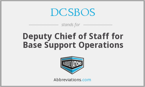 DCSBOS - Deputy Chief of Staff for Base Support Operations