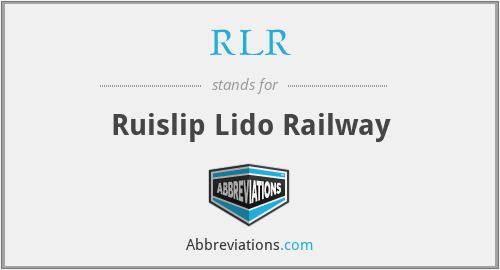 RLR - Ruislip Lido Railway