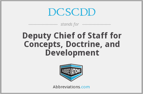 What does DCSCDD stand for?