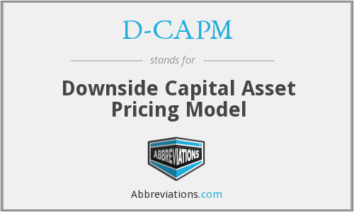 What does D-CAPM stand for?