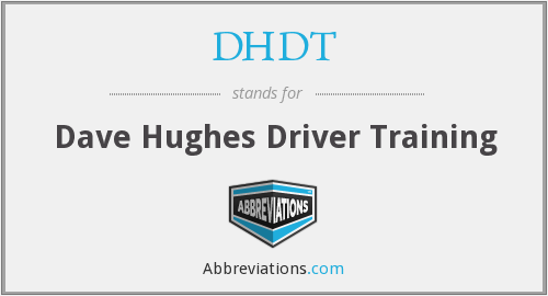 What does DHDT stand for?