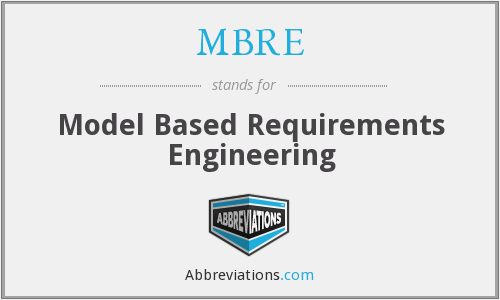 What does MBRE stand for?
