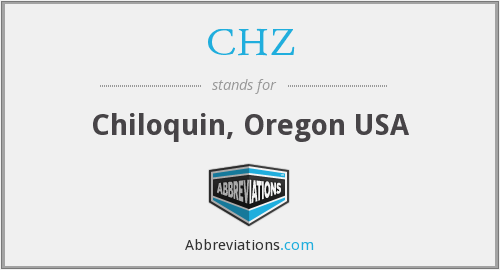 CHZ - Chiloquin, Oregon USA