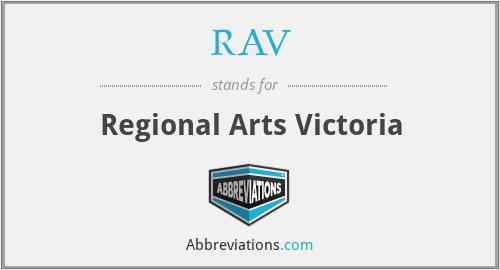 RAV - Regional Arts Victoria