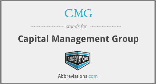 CMG - Capital Management Group