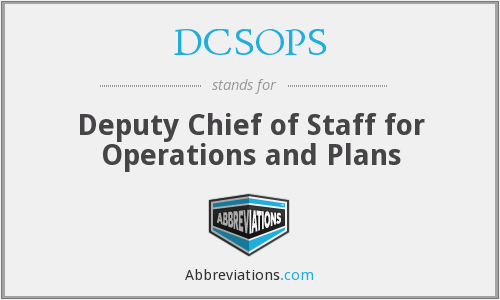 What does DCSOPS stand for?