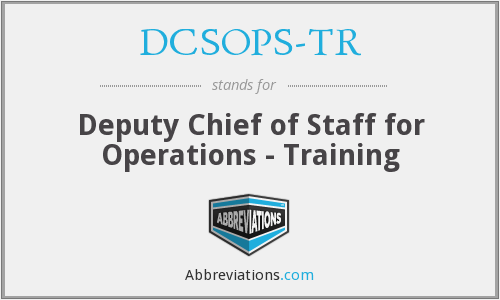 What does DCSOPS-TR stand for?
