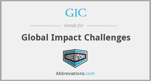 GIC - Global Impact Challenges