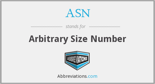 ASN - Arbitrary Size Number