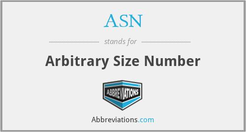 ASN - Arbitrary Size Number
