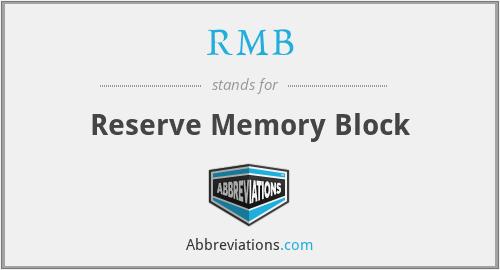 RMB - Reserve Memory Block