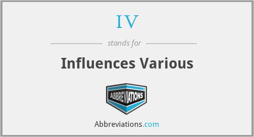IV - Influences Various