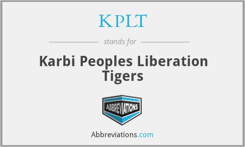KPLT - Karbi Peoples Liberation Tigers